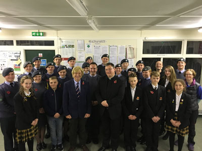1206 Air Cadets with Michael Fabricant MP